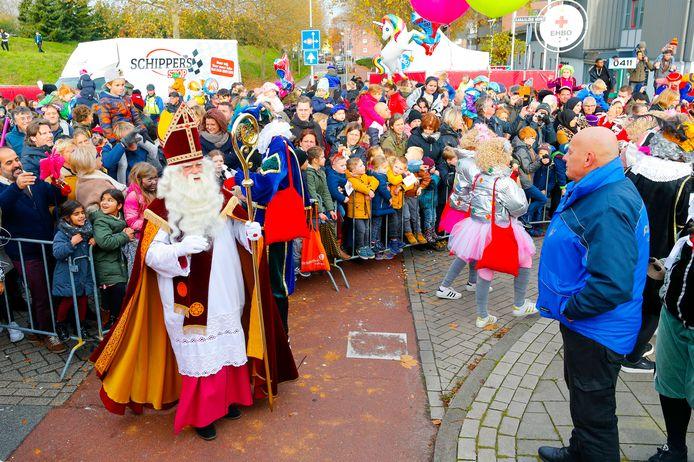 De intocht van Sinterklaas in Eindhoven in november 2019.