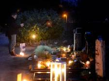 Met lichtjes overleden dierbaren herdenken in Hof van Twente