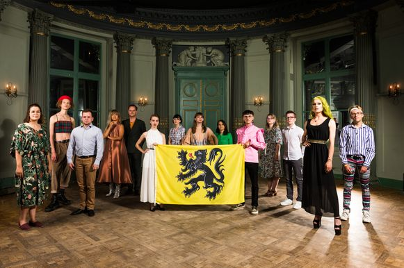 De LGTBQIA+-Vlaamse vlag