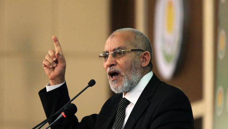 Mohamed Badie, de (voormalige) leider van de Moslim Broederschap. Beeld reuters