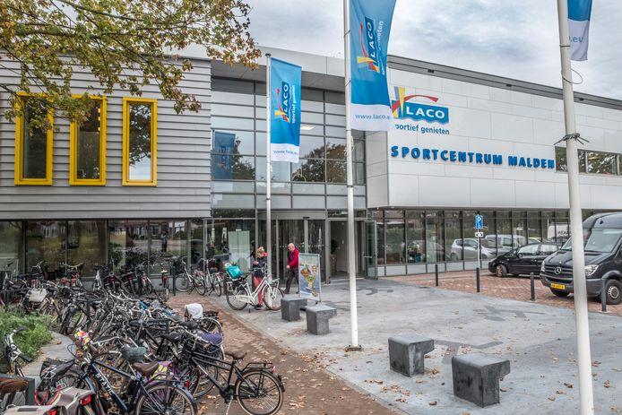 Het Laco sportcentrum in Malden aan de Veldsingel.