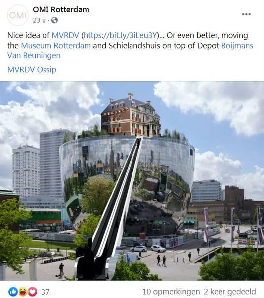 Architectuurcentrum OMI zegt daarentegen: zet het Schielandhuis maar op het Collectiegebouw.