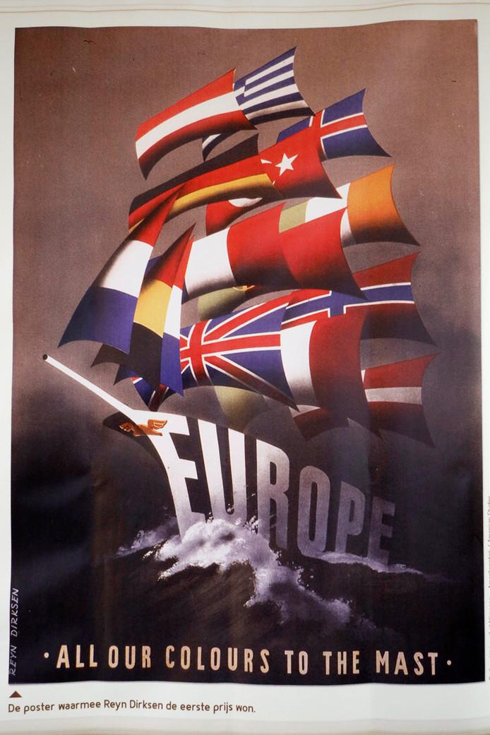 Affiche van het Marshall Plan.