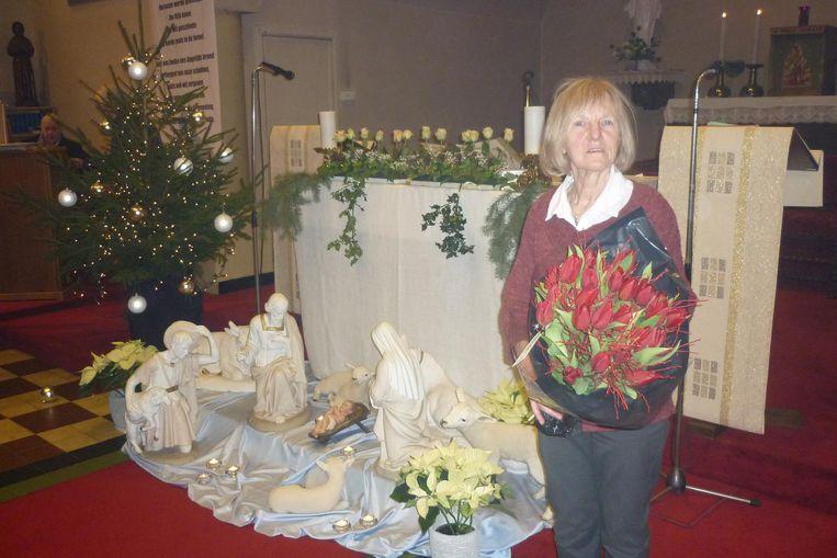 Marianne kreeg bloemen voor haar inzet.