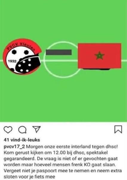 De verwijderde Instagrampost.
