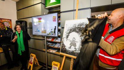 Eneco Clean Beach Cup veilt gesigneerd kunstwerk van Urbanus voor het Zeepreventorium