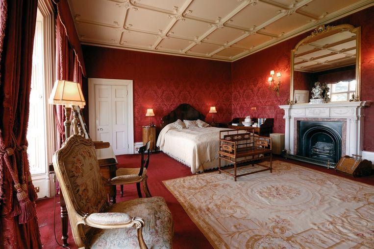 Een van de vele slaapkamers van het kasteel.
