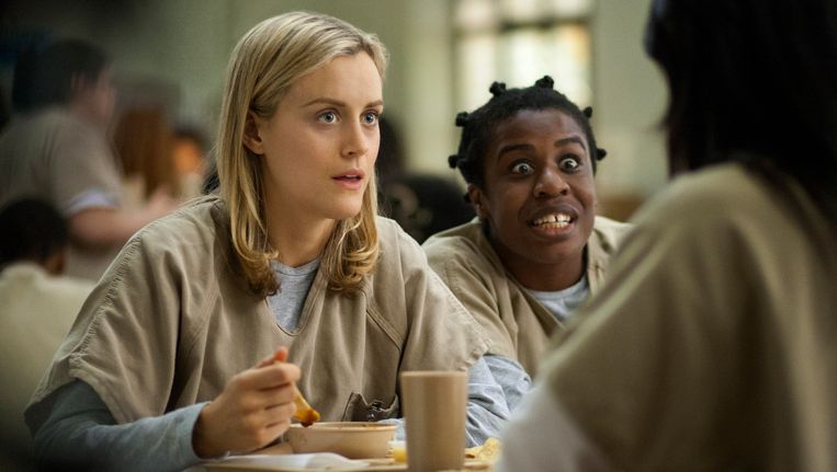 Scene uit de Netflixserie 'Orange is the new Black'. Beeld AP