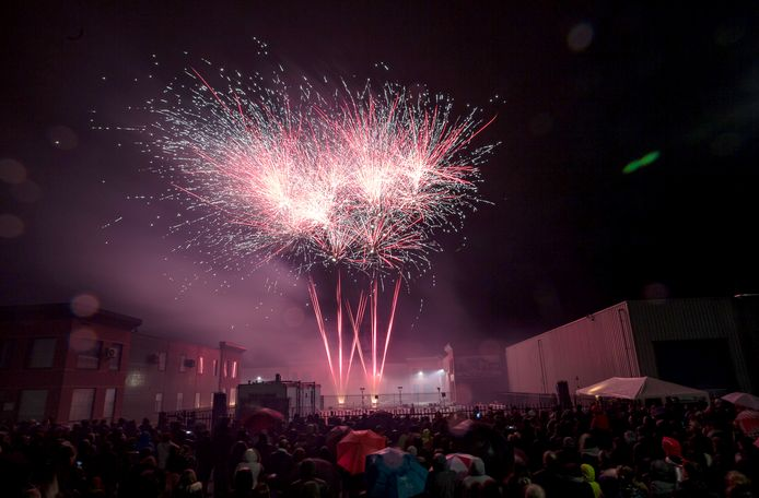 Spectaculaire vuurwerkshow zaterdag in Roosendaal. Foto Christian Traets