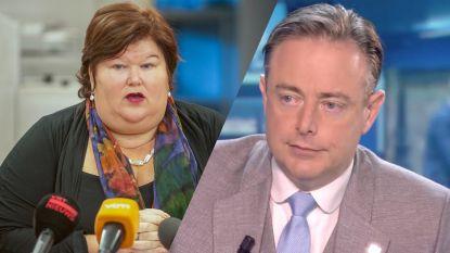 """De Block en N-VA clashen opnieuw over asielaanvragen: """"Wet is wet, ook voor De Wever"""""""