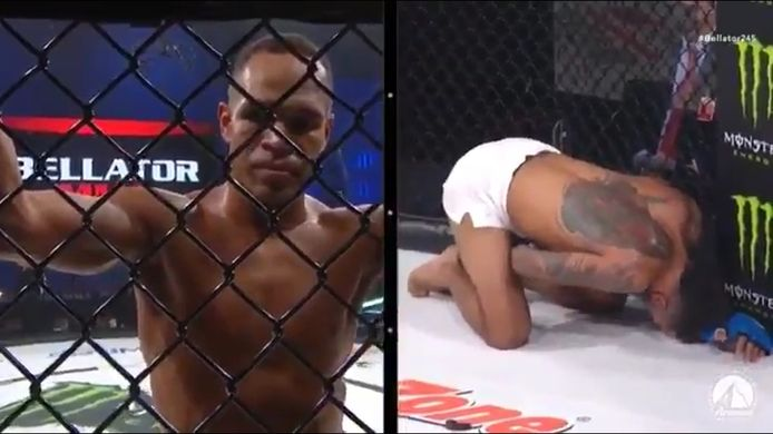Peter Stanonika été atteint par un solide coup de pied aux testicules pendant son combat contre Raymond Daniels.