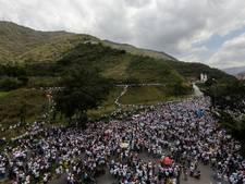 Duizenden Venezolanen lopen protestmars
