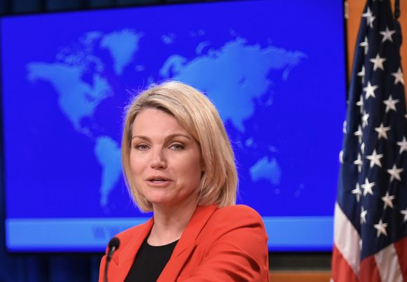 Heather Nauert, woordvoerster van het Amerikaanse ministerie van Buitenlandse Zaken.