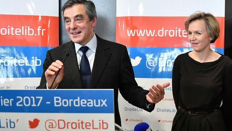 De rechtse presidentskandidaat Fillon in Bordeaux Beeld anp