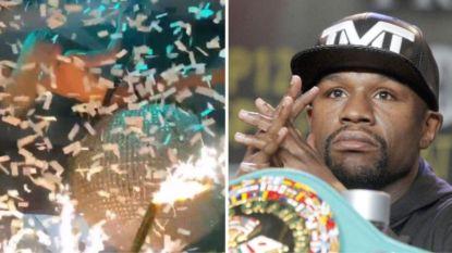 Het extravagante verjaardagsfeest van Floyd 'Money' Mayweather: strippers, geld dat uit de lucht komt vallen en modelvliegtuigjes
