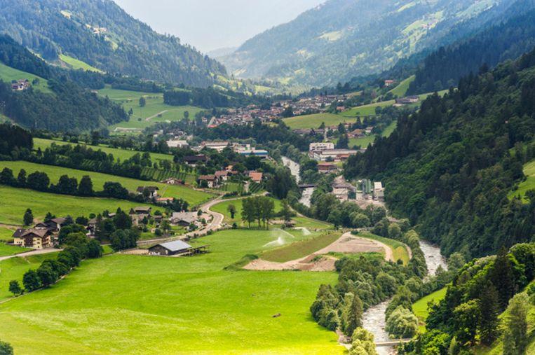 Het plaatsje Merano in Zuid-Tirol.