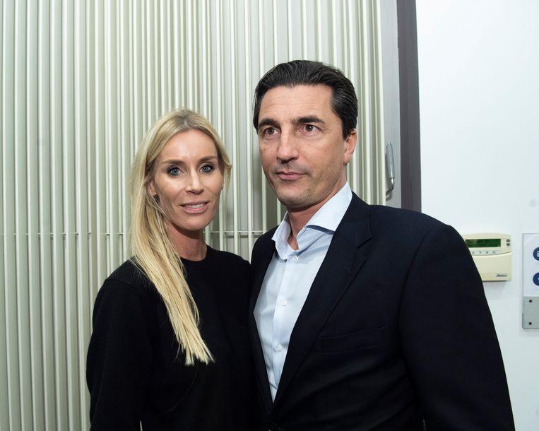 Advocaat Kris Luyckx - die Dejan Velkjovic verdedigt in het voetbalschandaal - en z'n partner Valerie.