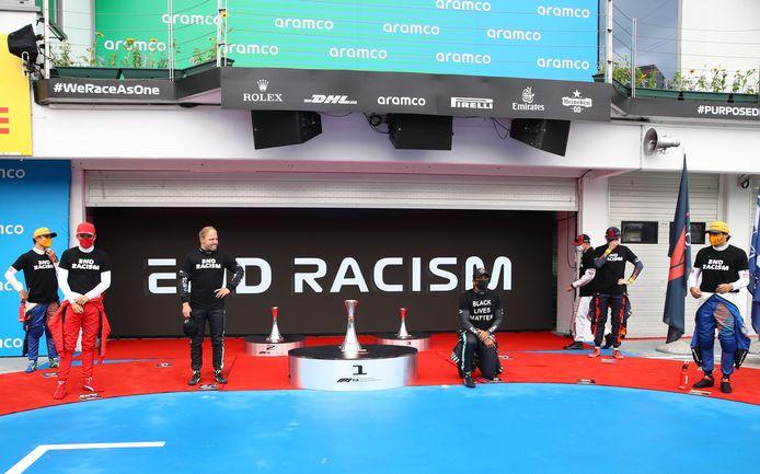 Zo zag de steunbetuiging aan Black Lives Matter eruit in Hongarije.