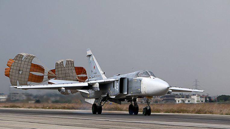 Een Russische SU-24 is Syrië keert terug van een missie. Beeld AFP