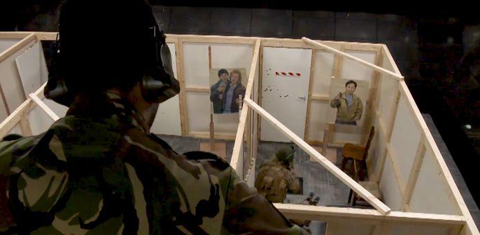 Het oefenhuis waar commando Sander Klap om het leven kwam bestond uit houten wandjes met vinyl.