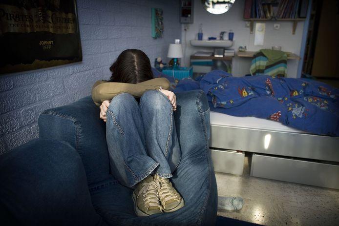 Blue-Care richt zich op jongeren en jongvolwassen. Het meisje op de foto is geen cliënt van Blue-Care.