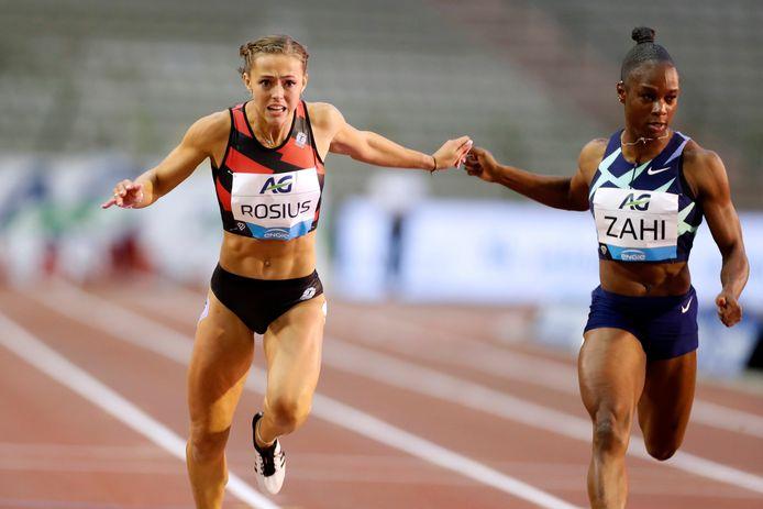 Rani Rosius op de 100m op de Memorial Van Damme op 4 september.