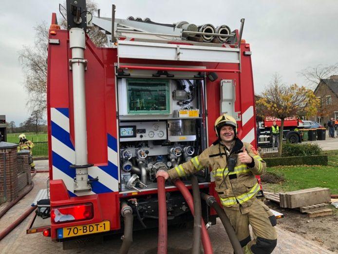 Tom Heebink, vrijwilliger bij de brandweer Lunteren en initiatiefnemer van het YouTube kanaal.