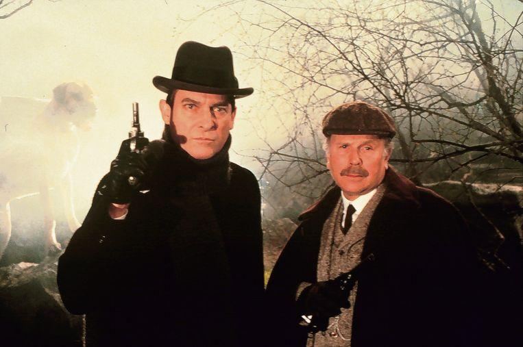 Jeremy Brett als Sherlock Holmes met zijn tweede Watson, Edward Hardwicke