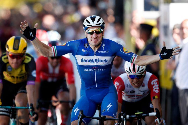 Viviani won vorig jaar de vierde etappe in de Tour.