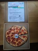 De uitnodiging aan de jongeren voor het pizzagesprek van de gemeente Oldebroek.