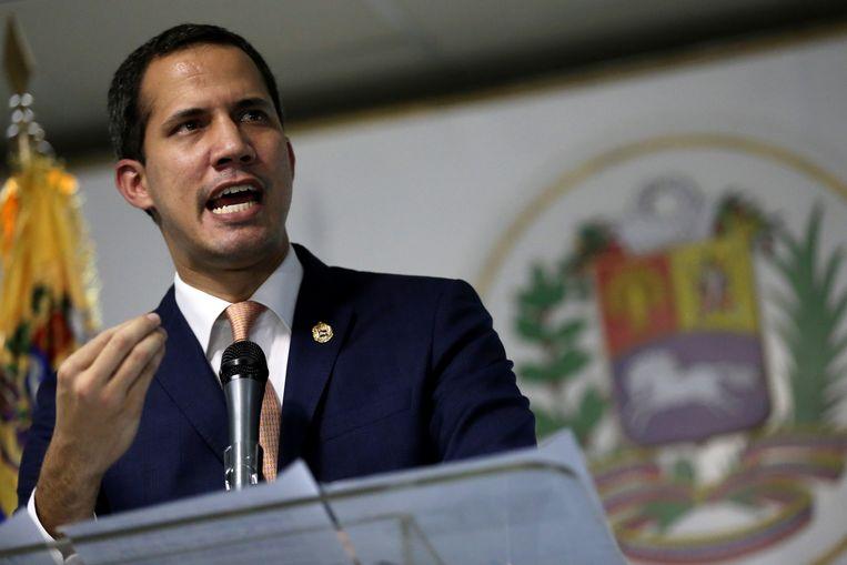 De zelfverklaarde interim-president van Venezuela Juan Guaido.