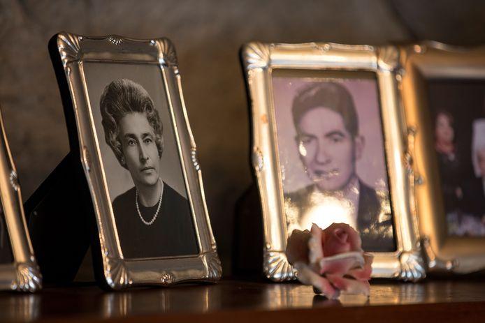 Portretfoto's van Julio Cesar en Waldramina toen ze nog een stuk jonger waren.