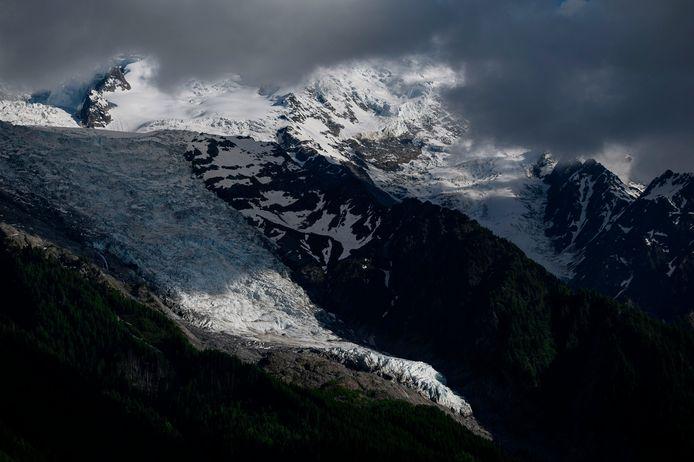 De Bossons-gletsjer bij Chamonix.