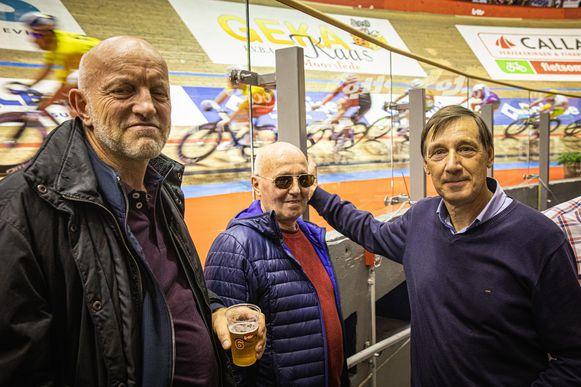 Piet, Marcel en Francis zijn trouwe bezoekers van de Zesdaagse.