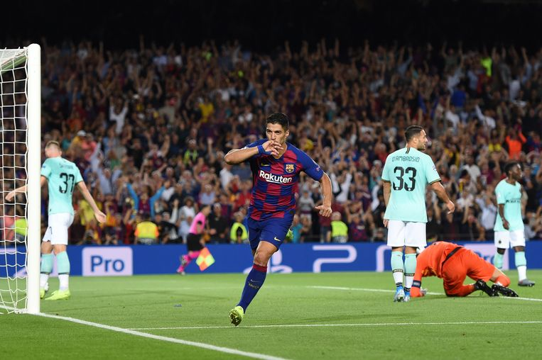 Luis Suárez maakte afgelopen seizoen in de Champions League in 7 duels 5 goals en gaf 3 assists.  Beeld Getty Images