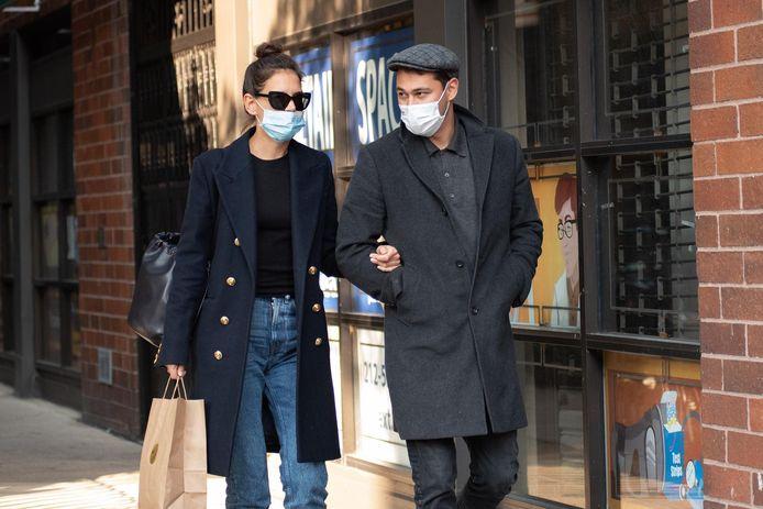 Katie Holmes en haar nieuwe vriend, Emilio Vitolo, werden onlangs gespot in New York.