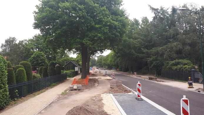 De Graafsebaan in Heesch is tot aan de kruising met de Elzenseloop klaar. Na de bouwvak begint de reconstructie van de weg op het deel tussen de kruising Elzenseloop en de bebouwde komgrens.