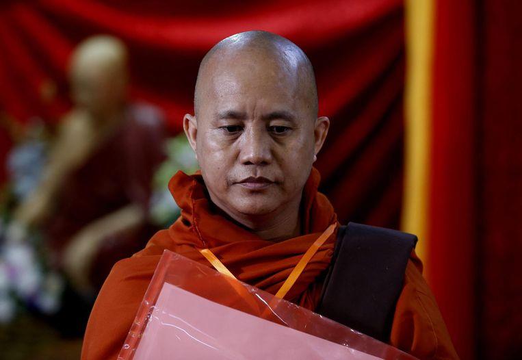 U Wirathu, leider van de Ma Ba Tha beweging. Beeld anp