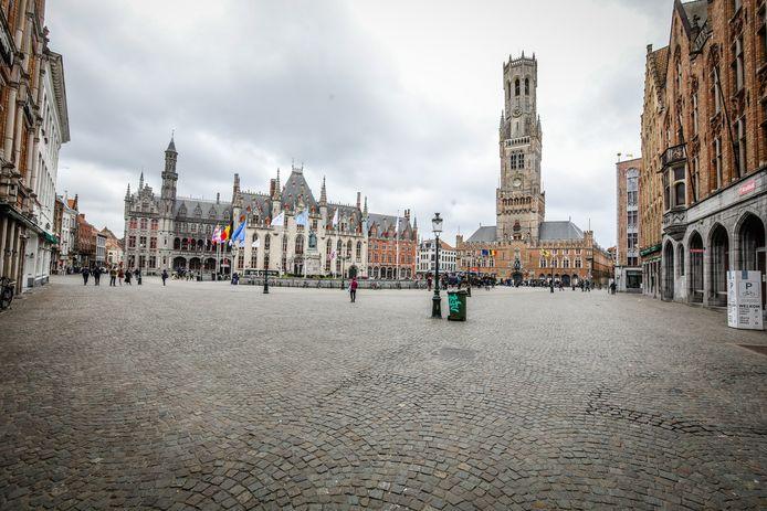 Een leeg Brugge: in 2020 zagen we dit beeld al te vaak