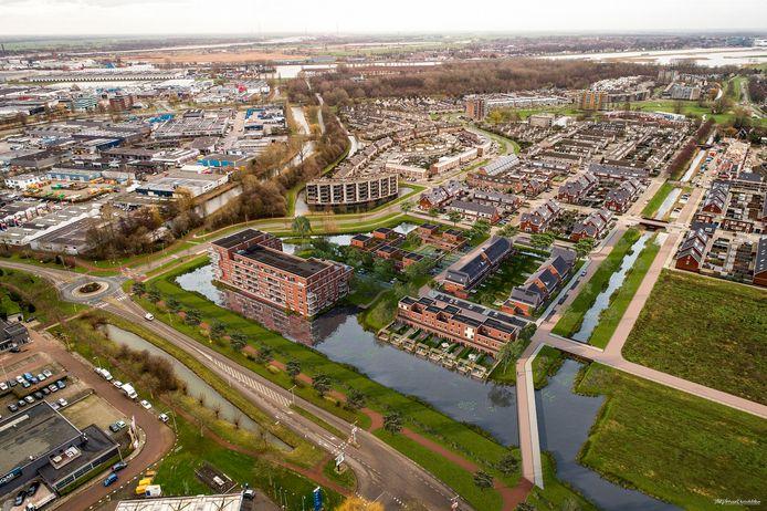 Waterrijk in Ridderkerk. De goedkoopste woningen bevinden zich op de laagste verdiepingen.