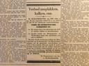 Advertentie voor aanplakverbod in verkiezingstijd (1933)