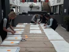 Totale hertelling stemmen in Bergen op Zoom