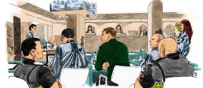 Holleeder staat terecht voor zijn vermeende betrokkenheid bij een reeks afrekeningen en het lidmaatschap van een criminele organisatie die het plegen van misdrijven als doel had.