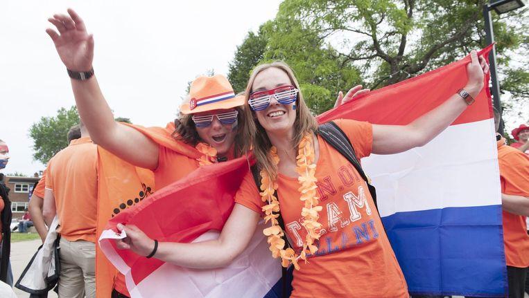 Fans van Oranje in Montreal.