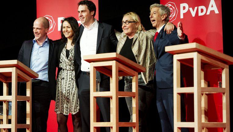De kandidaten voor het PvdA-leiderschap bij een vorig debat. ©ANP Beeld