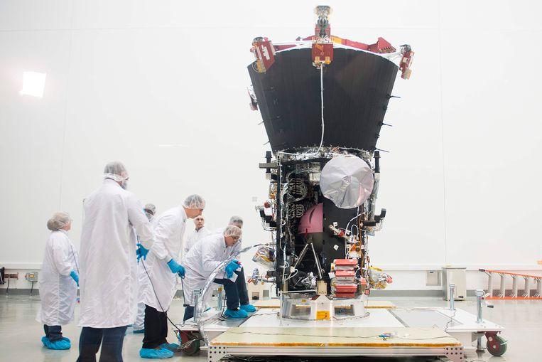 De Parker Solar Probe voor zijn lancering in 2018.