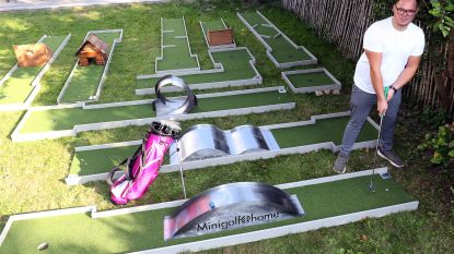 Zin in een spelletje minigolf? Greg stelt 10-delig terrein op in je eigen tuin