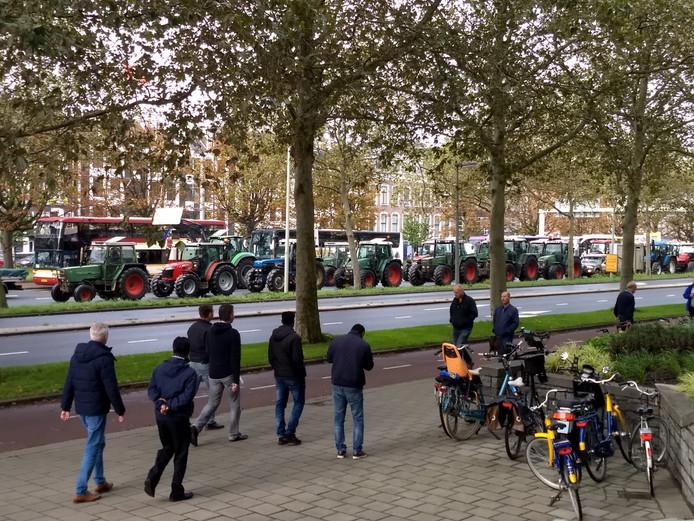 Veel bekijks voor protest van boeren