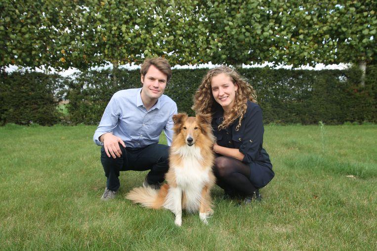 Ingenieurs Mattijs Brandt (24) uit Kortrijk en Charlotte Coene (24) uit Diksmuide van BuddyBites.
