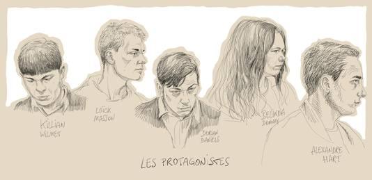 Killian Wilmet, Loïck Masson, Dorian Daniels, Belinda Donnay et Alexandre Hart